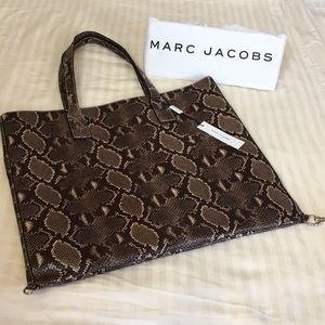 Python printed leather Marc Jacob's tote